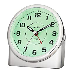 Acctim 14287 Central Alarm Clock, Silver by