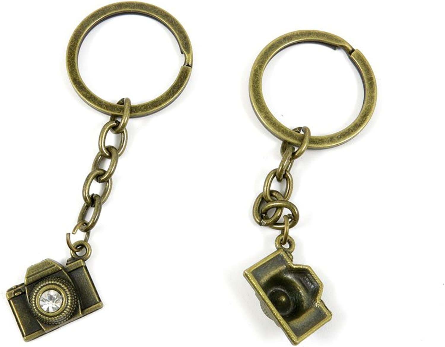100 PCS Keyrings Keychains Key Ring Chains Tags Jewelry Findings Clasps Buckles Supplies H6TB7 Camera