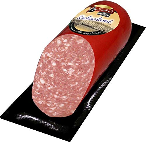 Bautzner Kochsalami schmeckt wie früher traditionelle deutsche Premium Rohwurst geräuchert über...