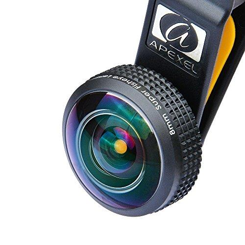 Detachable Clip 238 Degree Fisheye Lens Made of High-Class Glass