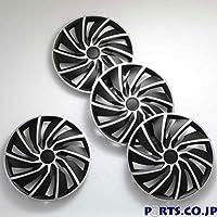 ホイールキャップ 4枚1セット TURBO 16インチ SILVER/BLACK