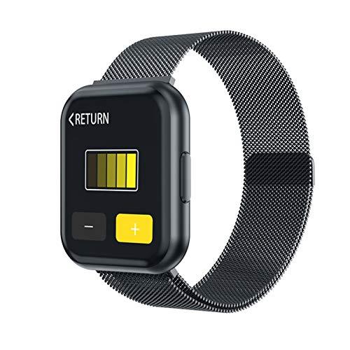 GZA T88 Smart Watch Hombres Mujeres Detección De Ritmo Cardíaco Pedómetro Deportivo Pantalla Táctil Completa Bluetooth Smartwatch para iPhone Huawei Teléfono (Color : Black Steel Strap)