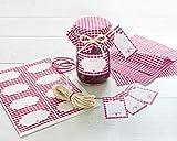 Readyprint Set Decorativo da 33 pz. per 8 vasetti di Confetture, Marmellate, con Copri bar...