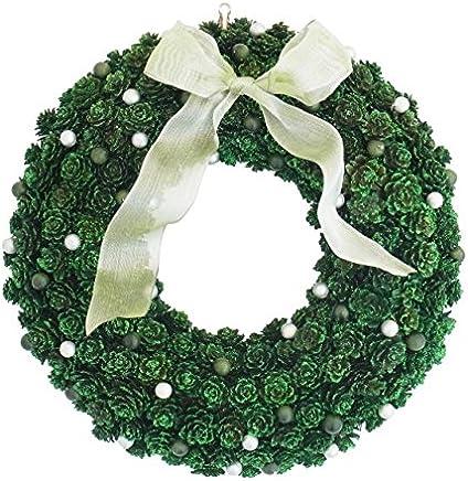彩か SAIKA リース M 緑 グリーン インテリア 玄関飾り キュート CXO-120Mg Small pinecone&Berry Wreath M Green