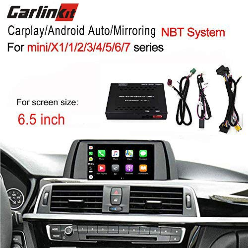 Carlinkit Carplay Android Auto Mirroring Smart Box for BMW 1 2/3/5/7/mini/X1/X3/X4/X5/X6 NBT System Factory Screen Upgrade 6.5 inch Screen,fit for Apple carplay