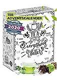 Image of Tee Adventskalender I für die Adventszeit 24 aromatische Teesorten (über 260g) zum probieren I Weihnachtskalender Geschenkset für die Advents Auszeit I runterkommen I entspannt durch die Adventszeit