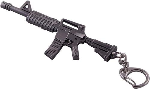 discount Mallofusa sale Miniature Gray Metal discount M4a1-a Assault Rifle Gun Model Keychain Bag Pendant sale