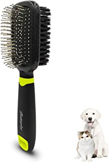 FASTINGDOG Dog Grooming Slicker Brush, Cat Dog Grooming Slicker Massage Brushes, Soft Bristle Bath Brush for Cats, Double-Sided Spring Comb Shedding Grooming Tools