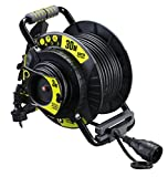 Masterplug OATRG3016RRFL3IP-PX Pro-XT Gartenkabeltrommel mit Anti-Twist-Funktion, 30m + 3m Verlängerungskabel mit Thermoschutz