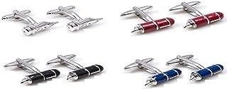 Fountain Pens and Quill Teacher CPA 4 Pairs Cufflinks in a Presentation Gift Box & Polishing Cloth