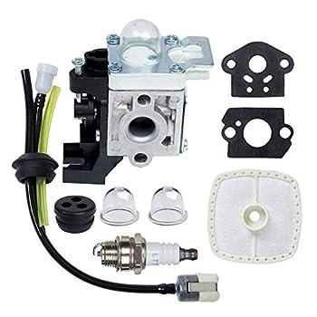 HOODELL Adjustable SRM225 Carburetor for Echo GT225 PE225 PAS-225 SHC-225 RB-K93 SRM-225 Weed Eater Parts Rebuild Easy-Start Trimmer Edger Carb with Tune Up Kit Primer Bulb