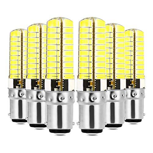 Bombillas E11 E17 G9 G4 BA15D Luz de silicona LED 5730 SMD 80LED Lámpara de ahorro de energía regulable 7W 6000k Las bombillas LED se pueden usar en la lámpara de la sala de estar AC 110V Luz blanca (