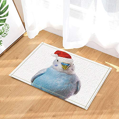 NNAYD1996 Decoratieve figuur dier met de rode kerstmuts op witte bodem 3D-print, accessoires voor de badkamer, toegangsdeur, deur aan de achterkant, keuken, woonkamer, badkamer