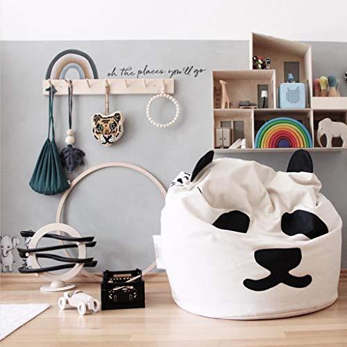 Gmsqj Sitzsack Stühle Für Kinder, Cute Panda Kindersofa, Weiche Bequeme Sofa Sack, Filled High Resilience Daunen Seide Floss Baumwolle Möbel Und Für Kinderzimmer