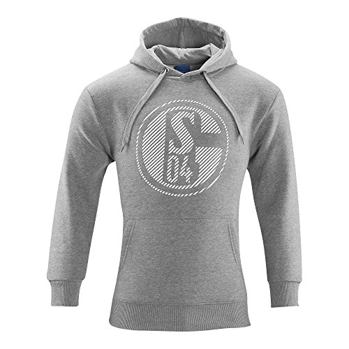 FC Schalke 04 FC Gelsenkirchen-Schalke 04 EV Fanartikel Sweat Shirt Classic Grey Kapuzensweatshirt Kapuze Pullover Größe XXXL