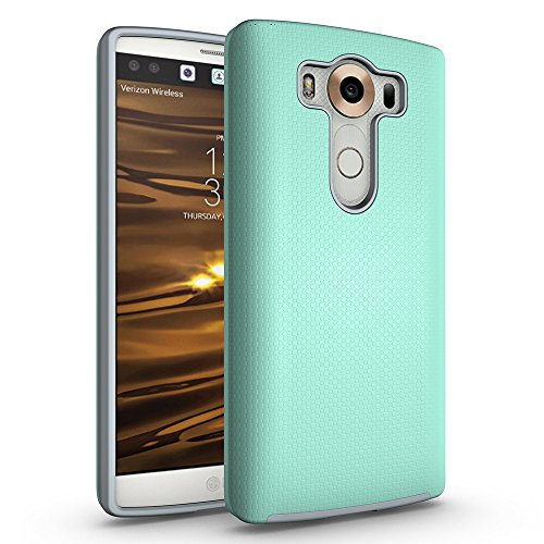 LG V10 Antiskid Defender Case, ZUERCONG Slim Dots-Rugged Nonslip Shockproof Scratch-Resistant Anti-Fingerprints Protective Bumper Case Cover for LG V10 H900 H901 VS990 5.7 inch,Green