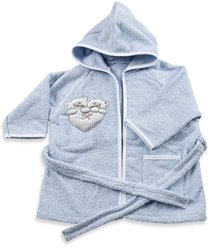 Italbaby Bademantel Frottee für Babys 6-18 Monate Lovely Hellblau - 550 g