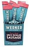 Werner Spicy Pickled Sausage Pack of 12 – Pork & Beef Sausages 1.7 Ounce Individually Wrapped Meat Snacks
