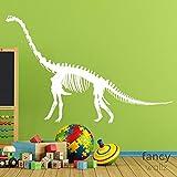 FXBSZ Pegatina de vinilo fósil de dinosaurio personalizable Pegatina de pared de fósil de dinosaurio dormitorio pegatina de decoración de fósiles de dinosaurio pegatina de moda Rojo 90cm x 57cm
