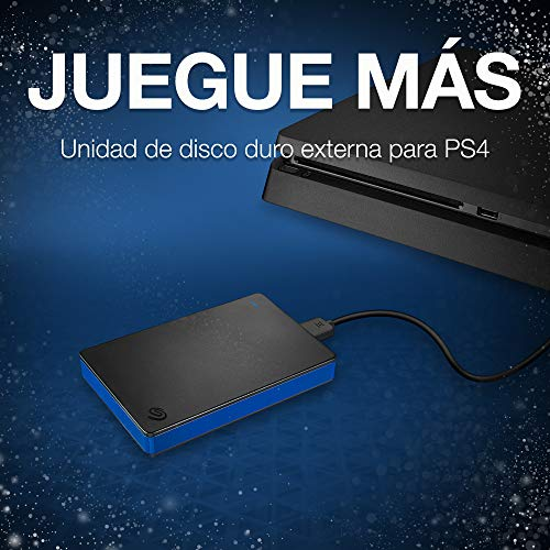Seagate Game Drive, 1 TB, Disco duro externo, HDD portátil, compatible con PS4 (STGD1000100)