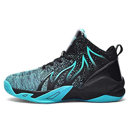 2021 Summer New Men's Shoes Casual Basketball Sports Shoes Woven Fabric Large Size Trendy Shoes Running Shoes Student Men's Shoes (Blue,12)