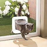 CSDY-Patta per Gatti con Microchip, Porta per Animali Domestici, Chiusura A 4 Vie E Facile Installazione, Versione 2019 (25,5 Cm X 24,5 Cm X 5,2 Cm)