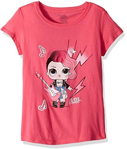 L.O.L. Surprise! Girls' Big Glee Club Rocker Short Sleeve T-Shirt, hot Pink, M-8/10