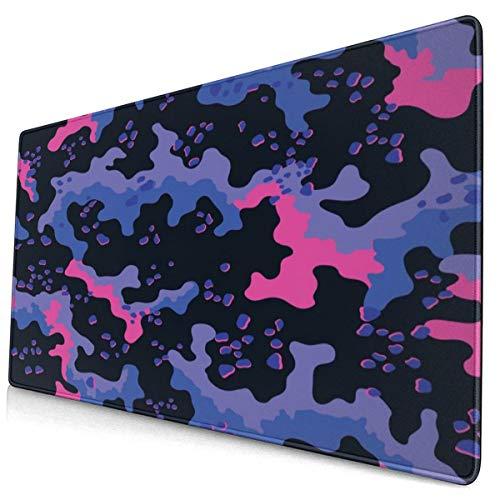 Mouse Pad Unique Camouflage Bule Pink Camo Gaming Mouse Pad,Mouse Pad for Women,Extended Mouse Pad,Keyboard Mouse Pad,Mouse Pad Non-Slip