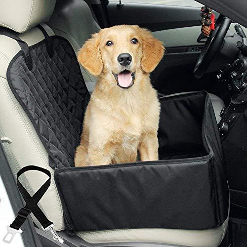 Big Ant Hunde Autositz, wasserdichte Auto Hundesitz für Kleine Mittlere Hunde Auto Hundesitz mit Sicherheitsgurt, Faltbar Haustier Autoschondecke Autositzbezug Hundeautositz für Rück- und Vordersitz