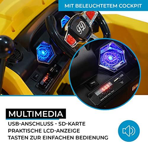 RC Auto kaufen Kinderauto Bild 2: Actionbikes Motors Kinder Elektro Radlader D2810 - 50 Watt Motor - Weichgummiring Reifen - 2,4 Ghz Fernbedienung - Soft Start*