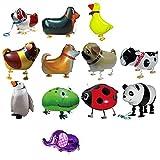 TOYMYTOY 12 globos de Airwalker en forma de animal, para cumpleaños, fiestas, decoración, juguete para regalo (patrón aleatorio)