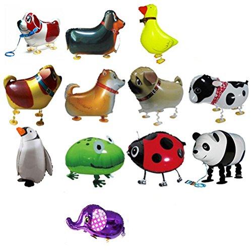 TOYMYTOY 12 Pcs Airwalker Luftballons gehende Ballons Tier Folienballon für Geburtstag Party Deko Kinder Spielzeug Geschenk(Zufälliges Muster)