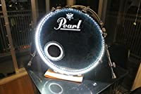 Drummer Japan バスドラム・ライトニング 【バスドラムがトリガーと連動して光る!】カラー:ホワイト