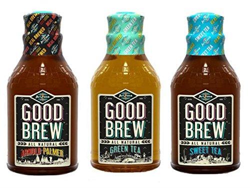 AriZona Good Brew All Natural Tea (3 Flavor Sampler Pack)