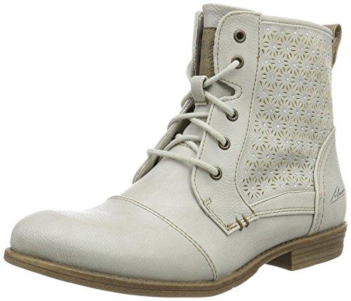 MUSTANG Damen 1157-543-203 Combat Boots, Elfenbein (203 Ice), 36 EU