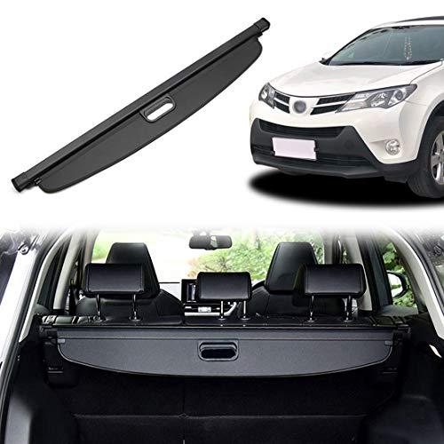 OREALTOOL Laderaumabdeckung Kofferraum Schutz Abdeckung Cargo Cover für Toyota RAV4 2019 Schwarz Ausziehbar Kofferraumabdeckung Rollo