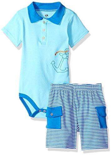 Hudson Baby Body ancla de camiseta de manga corta y pantalones cortos