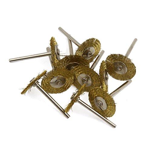 Aexit 10 Schleifmittel & Veredlungsprodukte Stück Gold Ton 25mm Durchmesser Crimp Stahl Draht Schleif-, Schrupp- & Trennmaterial Rad Polierbürsten