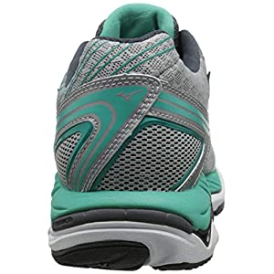 Mizuno Women's Wave Paradox 2 Running Shoe, Silver/Dark Shadow, 6 B US