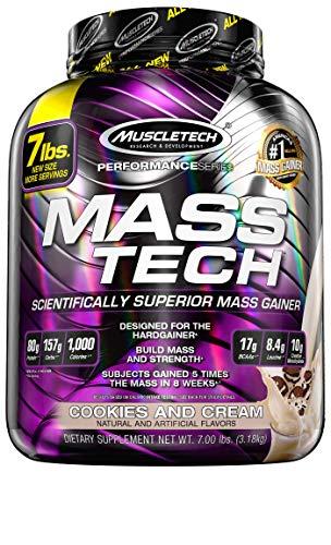 Muscletech Mass Tech Performance Series Aroma Cookie & Cream - Prodotto in Polvere in Confezione da 3.18 kg