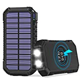 Best Power Banks - Solar Charger 26800mAh, Hiluckey Wireless Portable Charger Qi Review