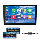 Android Doppel-Din-Autoradio mit Carplay 10.1'' Touchscreen-Autoradio-Unterstützung Bluetooth,...