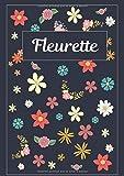 Fleurette: Journal | Agenda | Carnet de Notes | 120 pages | A4 | Blanc | Idée Cadeau