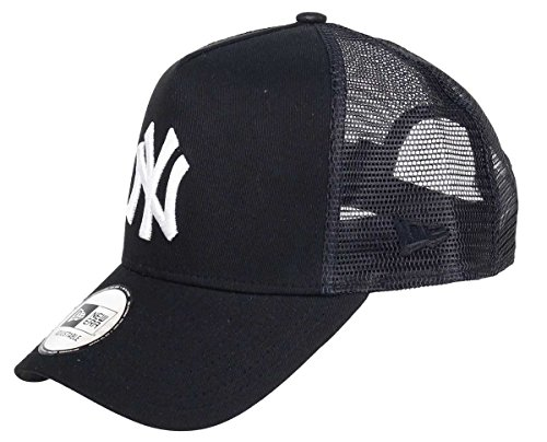 New Era New York Yankees A Frame Trucker Cap Black White Edition Black - One-Size