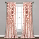 Lush Decor Riley Panel de Cortina para Ventana, 213 x 137 cm, Gris Claro, Blush, 84' L Panel, 1