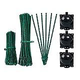 Cuasting 200 unidades de corbata ajustable para plantas verdes (13 y 17 cm, lazo de jardín) y 3 cajas de propagación de alta presión para plantas