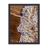 INOV ビーチ 波 30x40cm 絵画 インテリア 額入り・Mサイズ 玄関に飾る絵画 風水 壁掛け 絵 リビング アートポスター 病院 店舗 開運 壁飾り