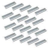 Emuca 9163062 Maniglia da incasso nel mobile, 190x45mm, Alluminio, Anodizzato opaco, Set d...