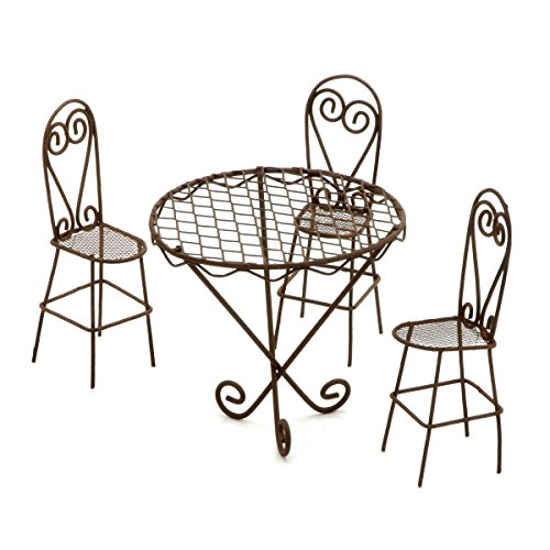 Darice Gabarit d'embossage en métal Intemporel Miniatures-wire Ensemble Table et chaises de Jardin