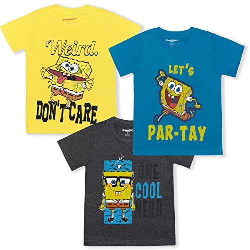 Nickelodeon Spongebob Squarepants Boy's 3-Piece Short Sleeve Graphic...